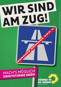 plakat: Wir sind am Zug (LTW2013)
