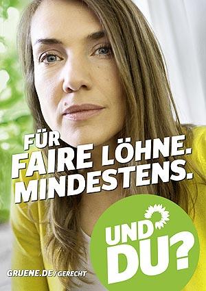Plakat: Für faire Löhne. Mindestens.