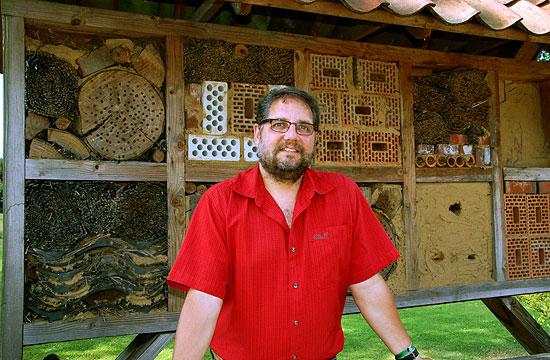 Naturschutz: Insektenhotel Moorburg, Dorfplatz