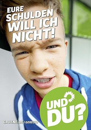 Plakat: Eure Schulden will ich nicht!
