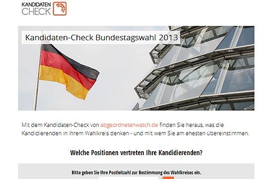 Kandidaten-CheckBundestagswahl 2013