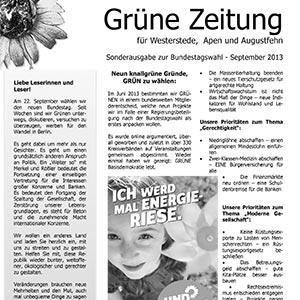 Grüne Zeitung für Westerstede, Apen und Augustfehn