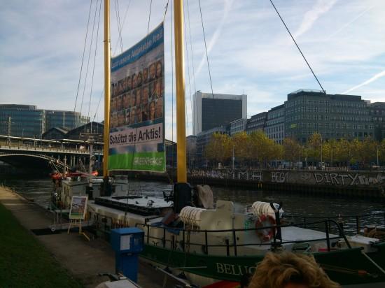 Das Greenpeace-Schiff Beluga II