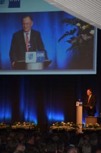 Ministerpräsident Stephan Weil auf dem Neujahrsempfang der IHK Oldenburg