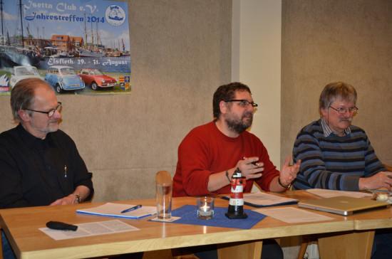 V.l.n.r: Prof. Kunke, ich, Hans-Otto Meyer-Ott