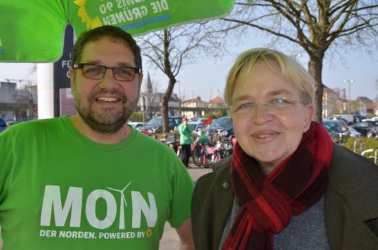Bürgermeisterkandidatin Dr. Marion Rieken und ich