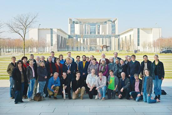 Die erste Reisegruppe, die auf meine Einladung hin nach Berlin gekommen ist.
