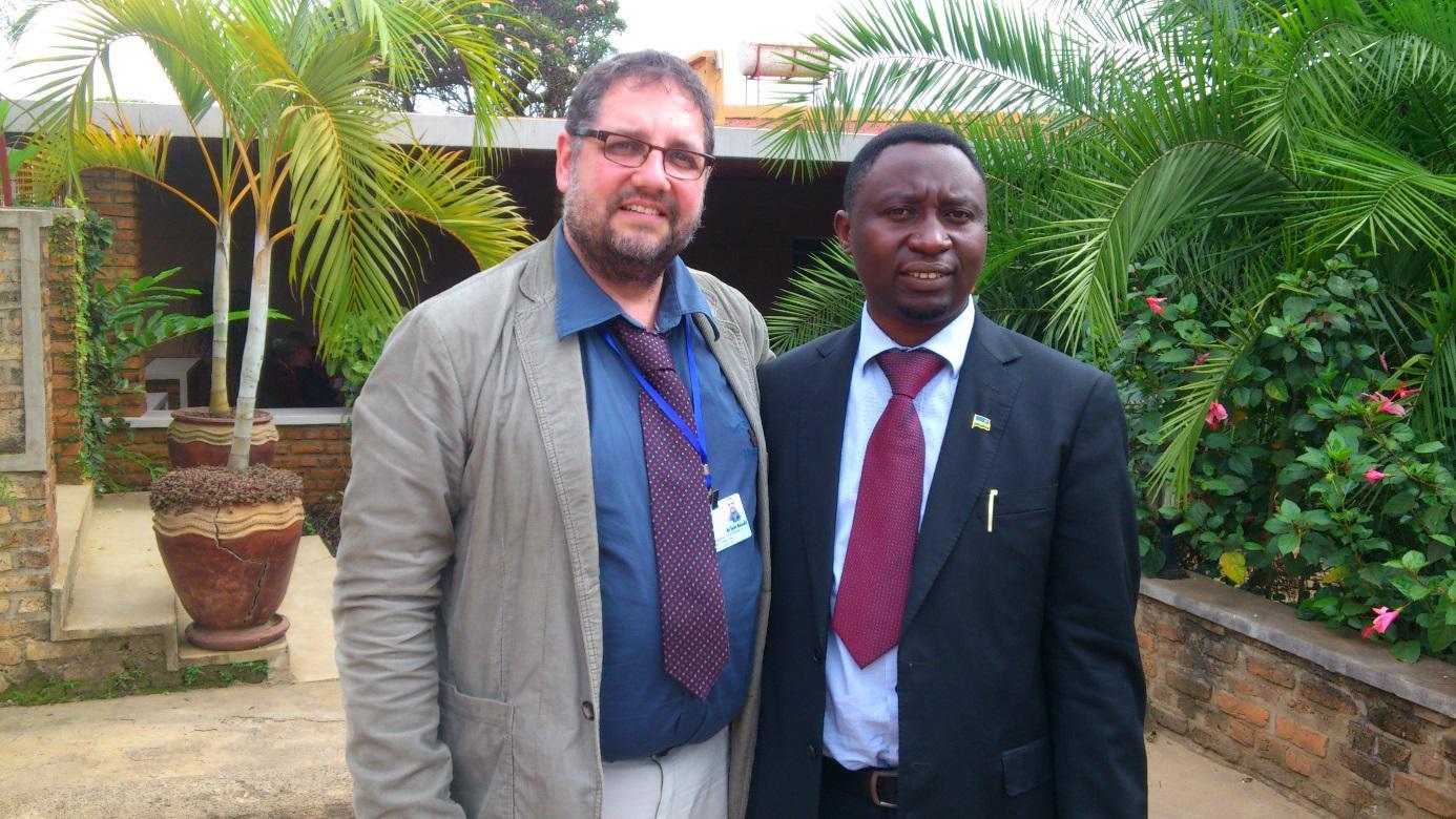Mit dem GRÜNEN Vorsitzenden Dr. Frank Habineza
