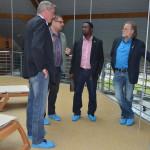 In der Therme, hier schon mit Frank Habineza aus Rwanda