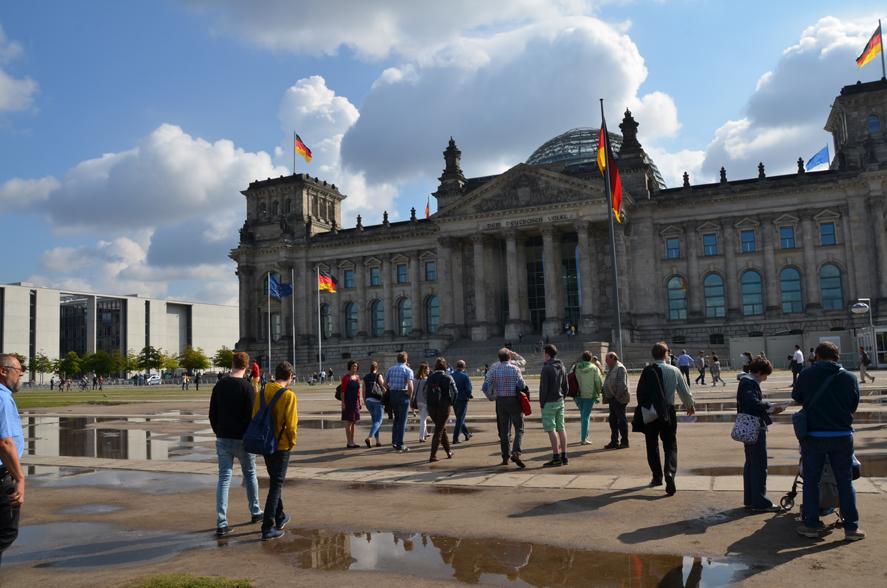 Auf dem Weg zum Bundestag