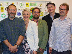 Greenpeace-Aktivisten besuchen Fraktion