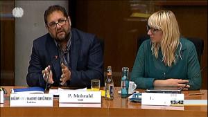 Im Petitionsausschuss, rechts neben mir Luise Amtsberg