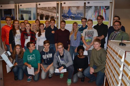 Cäcilienschule Wilhelmshaven, Kl. 11 mit Lehrer Andreas Garms