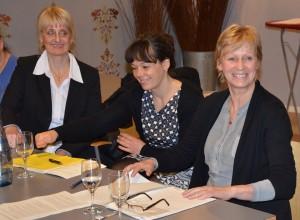 V.l.n.r.: Hilke Schauland, Anett Schmittendorf, Maria Klein-Schmeink (MdB)
