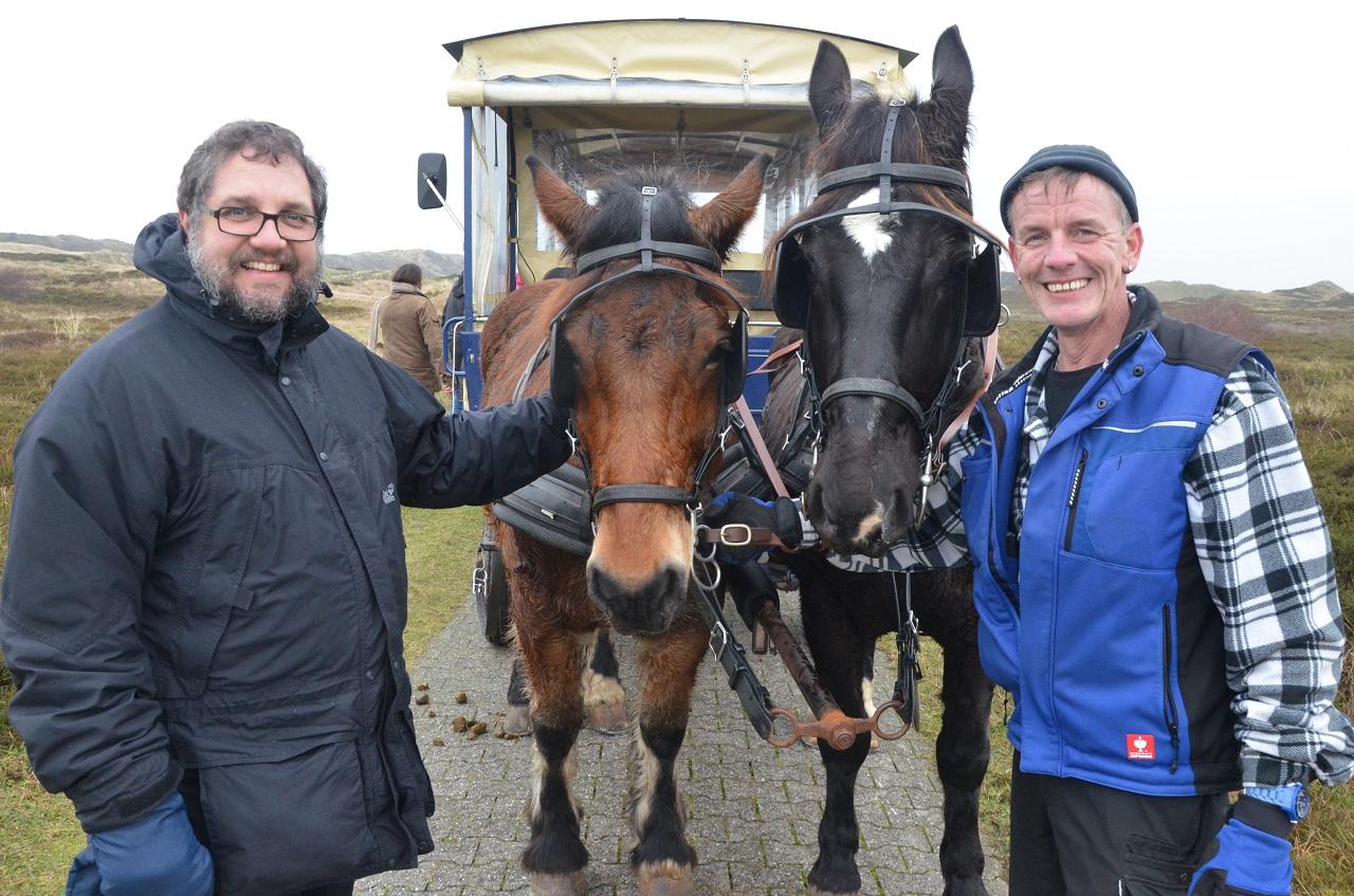 Danke an Uwe und seine beiden Pferde für diese besonnene Kutschfahrt.