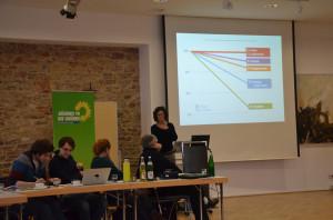 Susanne Menge, MdL beim Vortrag