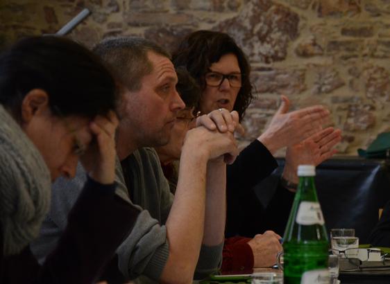 Susanne Menge, MdL in der Diskussion