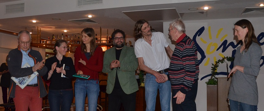 V.l.n.r.: Michael Schildmann, Petra Walentowitz, Kati Bartholdy, ich, Holger Bartholdy, Karl-Fritz Gertjejanssen, Sonja Wagner