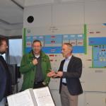 Peter besichtigt das Kulturwehr Kehl-Strassburg