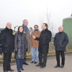 Peter Meiwald, Thomas Marwein  und  andere Grüne bei der Besichtigung der ZAK