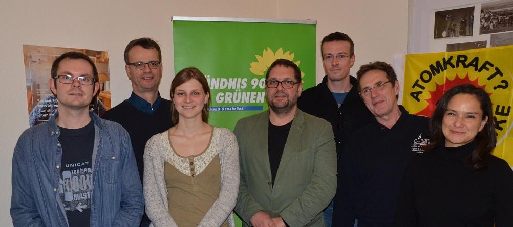 Unterzeile Foto v.l.n.r.: Matthias Bruns, Volker Bajus, Anne Kura, ich, Simon Köhler, Jochen Weber, Loreto Bieritz.