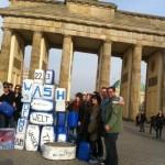Peter Meiwald beim Flashmob von Viva con Aqua und Welthungerhilfe