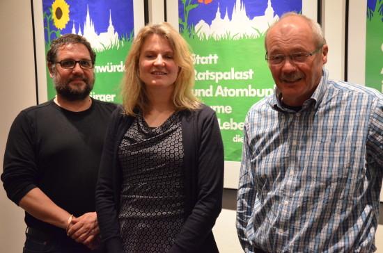 EWE Gruppenbild mit Dame: In der Mitte Alexandra Reith, rechts Hans-Jürgen Klein und ich.
