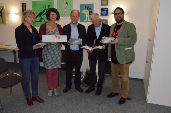 (v.l.n.r.): Rita Schilling (GRÜNES Ratsmitglied Stadt Oldenburg), Susanne Menge (MdL), Michael Cramer (MdEP), Dr. Wolfgang Oschkenat (Corpus Gesundheit) und ich.