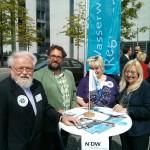 Gabriele Groneberg, Egon Buß und Ich bei der Unterzeichnung der Eberswalder Erklärung