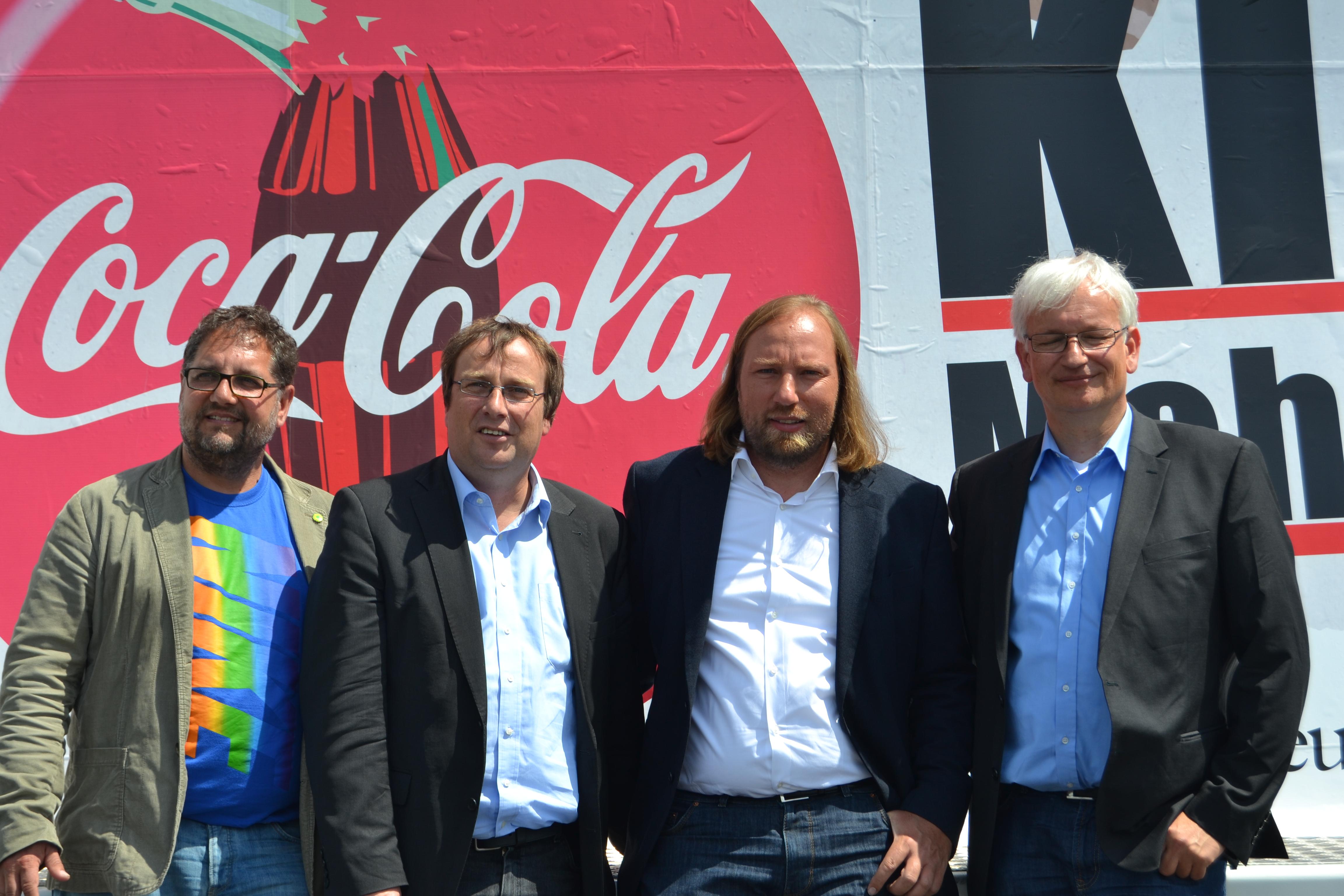 Gute Gespräche zu mehr Umweltschutz mit Jürgen Resch (DUH) und meinen Grünen Kollegen Toni Hofreiter und Oliver Krischer