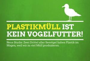 Plastikmüll  ist kein Vogelfutter