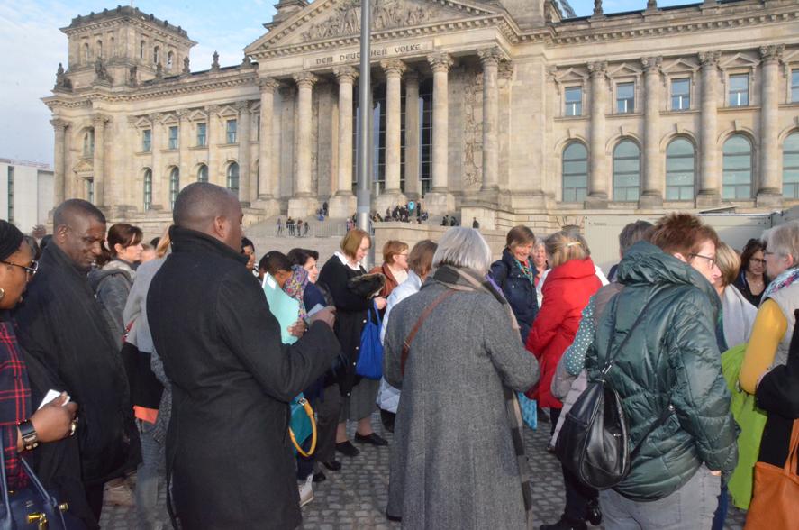 Kurz vor dem Besuch im Bundestag