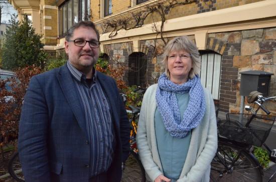 Wir beide plädieren dafür, dass Bürokratie abgebaut wird: Rita Schilling (GRÜNE Ratsfrau in Oldenburg) und ich.