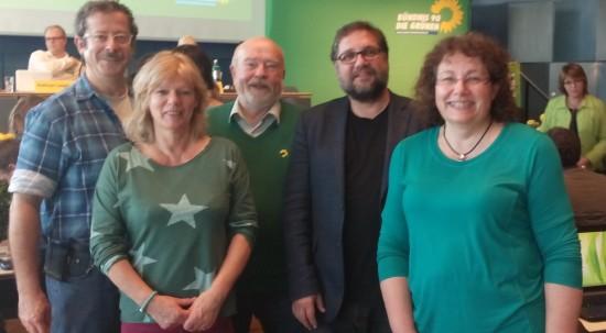 Diese fünf GRÜNEN Mitglieder vertraten den GRÜNEN Kreisverband Ammerland auf der GRÜNEN Landesdelegiertenkonferenz in Osnabrück (v.r.n.l.): Christel Ahlers, ich, Edeteilen Grambert, Esther Welter und Matthias Schroeter.