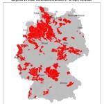Grundwasserkörper in schlechtem chemischen Zustand, Quelle: SRU 2015, S. 71