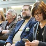 Peter Meiwald im Auditorium während der Eröffnungsreden zur Grünen Zukunftswerkstatt Europa (Copyright Stefan Kaminski)