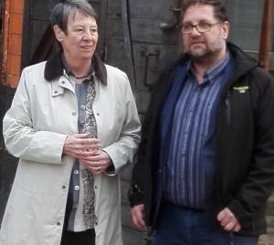 Umweltministerin Dr. Barbara Hendricks (links) und Peter Meiwald (rechts) während der Exkursion