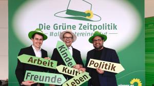 GRÜNE Zeitpolitik mit meinen Kollegen Sven-Christian Kindler und Tobias Lindner.