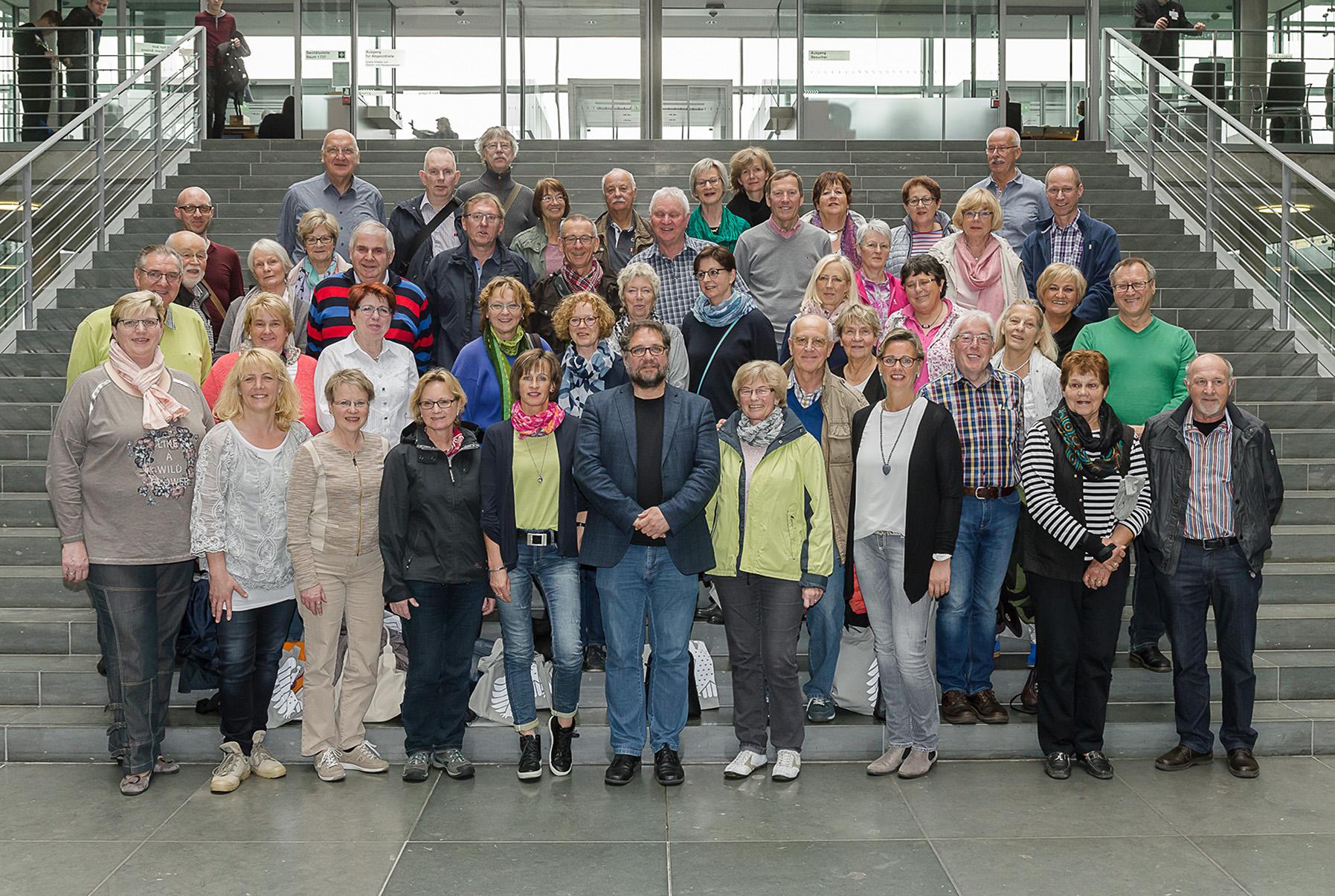 Die Teilnehmer*innen der BPA-Fahrt 'Geschichtstour' und ich