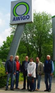 In Georgsmarienhütte im Landkreis Osnabrück (v.l.n.r.): Rainer Kavermann, Johannes Bartelt, Christian Niehaves, Felicitas Exner, ich und Friedel Boberg. Foto: Florian Kliesch