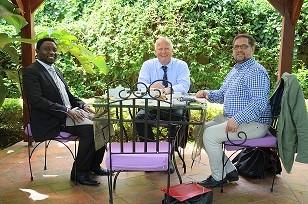 Arbeitsessen mit Dr. Frank Habineza, Vorsitzender der Demokratischen Grünen Partei (DGPR) in Rwanda