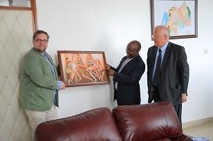 Treffen mit dem Staatsminister für Transport, Dr. Alexis Nzahabwanimana