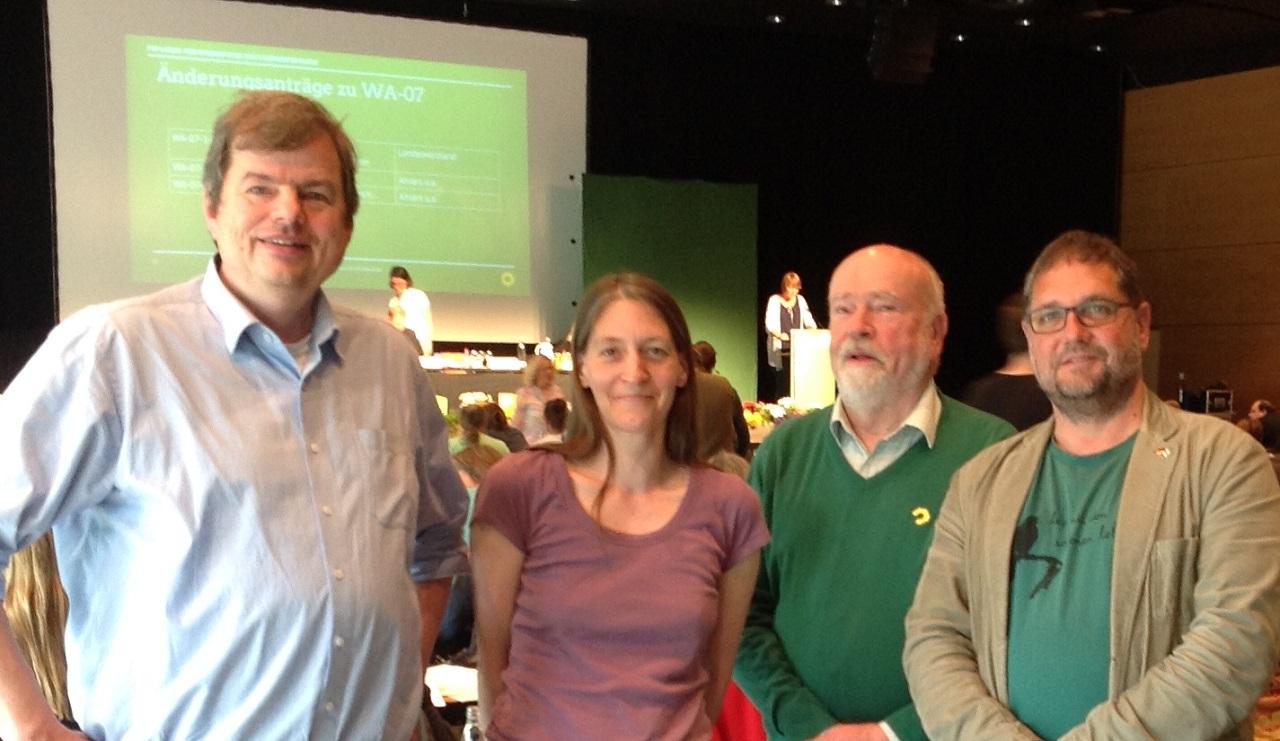 V.l.n.r.: Jens Rowold, sonja Wagner, Edeteilen Grambart und ich (MdB)