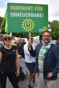 Peter Meiwald auf der Demo Energiewende retten!