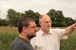 Wolfram Höhn erklärte uns, was bei Coldemüntje in Sachen Masterplan Ems geplant ist.