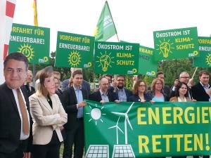 Peter Meiwald bei der Aktion Energiewende retten mit weiteren Mitgliedern der Bundestagsfraktion von Bündnis 90/Die Grünen