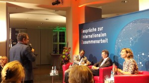 Peter Meiwald auf der GIZ Veranstaltung Ein Jahr Agenda 2030. Wo stehen wir heute?