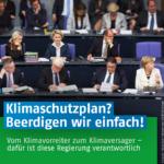 Klimaschutzplan 2050 wurde einfach vond er Tagesordnung des Kabinetts der Bundesregierung abgesetzt
