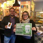 Peter Meiwald und Julia Post von der Initiative Coffee to go again