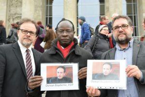 Fotoaktion Parlamentarier schützen Parlamenatrier